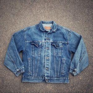 Vtg Levi's Jean jacket light blue 57508-0218 90's